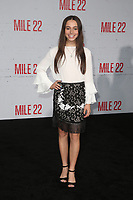"9 August 2018-  Westwood, California - Sky Katz. Premiere Of STX Films' ""Mile 22"" held at The Regency Village Theatre. Photo Credit: Faye Sadou/AdMedia"