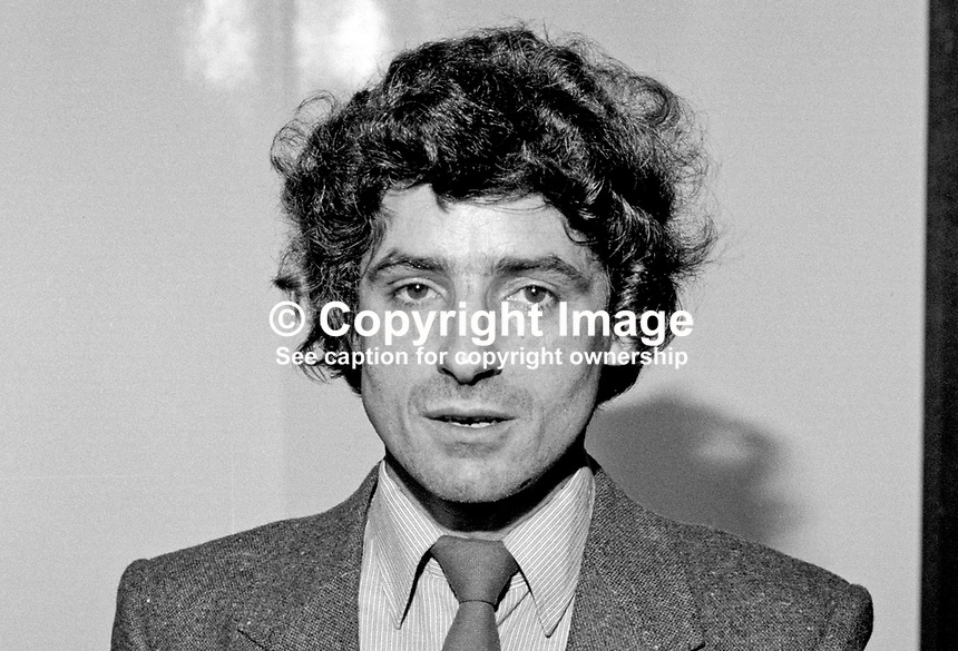 Bobby Lavery, councillor, Provisional Sinn Fein, Belfast City Council, N Ireland, 19850507BL1..Copyright Image from Victor Patterson, 54 Dorchester Park, Belfast, UK, BT9 6RJ..Tel: +44 28 9066 1296.Mob: +44 7802 353836.Voicemail +44 20 8816 7153.Skype: victorpattersonbelfast.Email: victorpatterson@me.com.Email: victorpatterson@ireland.com (back-up)..IMPORTANT: If you wish to use this image or any other of my images please go to www.victorpatterson.com and click on the Terms & Conditions. Then contact me by email or phone with the reference number(s) of the image(s) concerned.