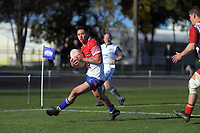 Action from the 2019 Heartland Championship  rugby match between Horowhenua Kapiti and West Coast at Levin Domain in Levin, New Zealand on Saturday, 31 August 2019. Photo: Dave Lintott / lintottphoto.co.nz