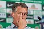 10.05.2018, Weserstadion, Bremen, GER, 1.FBL, Pressekonferenz Werder Bremen, <br /> <br /> im Bild<br /> Frank Baumann (Gesch&auml;ftsf&uuml;hrer Fu&szlig;ball Werder Bremen), <br /> <br /> Foto &copy; nordphoto / Ewert