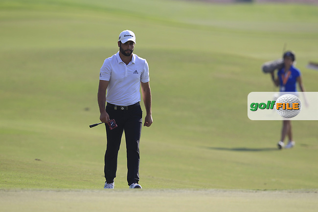 Adrian Otaegui (ESP) on the 15th fairway during the final round of the DP World Tour Championship, Jumeirah Golf Estates, Dubai, United Arab Emirates. 18/11/2018<br /> Picture: Golffile | Fran Caffrey<br /> <br /> <br /> All photo usage must carry mandatory copyright credit (&copy; Golffile | Fran Caffrey)