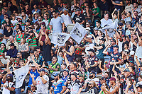 Warriors fans celebrate a try, Rabbitohs v Vodafone Warriors, NRL rugby league premiership. Optus Stadium, Perth, Western Australia. 10 March 2018. Copyright Image: Daniel Carson / www.photosport.nz