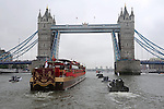 """QUEEN'S JUBILEE PAGEANT.The """"Spirit of Chartwell"""" passes Tower Bridge during the Queens Diamond Jubilee River Pageant, London. 03/06/2012.Mandatory Credit Photo: ©S Simpson/NEWSPIX INTERNATIONAL..**ALL FEES PAYABLE TO: """"NEWSPIX INTERNATIONAL""""**..IMMEDIATE CONFIRMATION OF USAGE REQUIRED:.Newspix International, 31 Chinnery Hill, Bishop's Stortford, ENGLAND CM23 3PS.Tel:+441279 324672  ; Fax: +441279656877.Mobile:  07775681153.e-mail: info@newspixinternational.co.uk"""