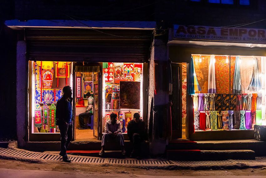 A shop in Leh, Ladakh; Jammu and Kashmir State, India.