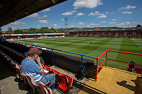 General view inside the ground ahead of the Sky Bet League 2 match between Cheltenham Town and Leyton Orient at the LCI Rail Stadium, Cheltenham, England on 6 August 2016. Photo by Mark  Hawkins / PRiME Media Images.