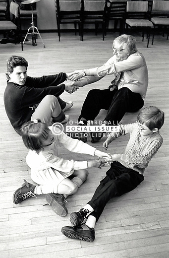 Common Ground theatre with disabled schoolchildren at Clarendon College, Nottingham UK 1990