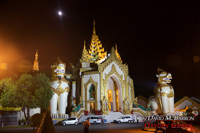 Leogryphs Guards at the Entrance to Shwedagon Pagoda