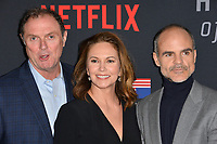 "LOS ANGELES, CA. October 22, 2018: Boris McGiver, Diane Lane & Michael Kelly at the season 6 premiere for ""House of Cards"" at the Directors Guild Theatre.<br /> Picture: Paul Smith/Featureflash"