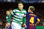 UEFA Champions League 2017/2018 - Matchday 6.<br /> FC Barcelona vs Sporting Clube de Portugal: 2-0.<br /> Jeremy Mathieu &amp; Ivan Rakitic.