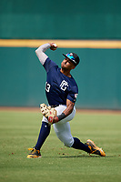 Elijah Lambros (13) of Fredericksburg Christian School in Fredericksburg, VA during the Perfect Game National Showcase at Hoover Metropolitan Stadium on June 18, 2020 in Hoover, Alabama. (Mike Janes/Four Seam Images)