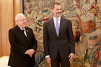 King Felipe VI of Spain receives Israeli President Reuven Rivlin for an official lunch at the Zarzuela Palace. November 6,2017. (ALTERPHOTOS/Acero)