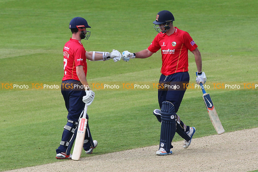 James Foster (L) and David Masters of Essex during Hampshire vs Essex Eagles, Royal London One-Day Cup Cricket at the Ageas Bowl on 5th June 2016
