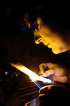 Pix: Shaun Flannery/shaunflanneryphotography.com...COPYRIGHT PICTURE>>SHAUN FLANNERY>01302-570814>>07778315553>>..3rd December 2009............UK Steel Enterprise (UKSE) - Sabine Little of  Bolsterstone, Sheffield works on jewelery in her studio..