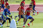 Spanish Alvaro Morata and Jordi Alba  during the second training of the concentration of Spanish football team at Ciudad del Futbol de Las Rozas before the qualifying for the Russia world cup in 2017 August 30, 2016. (ALTERPHOTOS/Rodrigo Jimenez)
