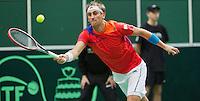 02-02-14,Czech Republic, Ostrava, Cez Arena, Davis Cup Czech Republic vs Netherlands, ,   Thiemo de Bakker (NED) <br /> Photo: Henk Koster
