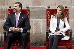 Princes Felipe and Letizia of Spain attend the 'Principe de Viana' 2013 award .June 06,2013. (ALTERPHOTOS/Acero)