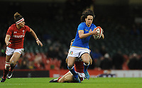 Italy&rsquo;s Manuela Furlan looks for a way through<br /> <br /> Photographer Ian Cook/CameraSport<br /> <br /> 2018 Women's Six Nations Championships Round 4 - Wales Women v Italy Women - Sunday 11th March 2018 - Principality Stadium - Cardiff<br /> <br /> World Copyright &copy; 2018 CameraSport. All rights reserved. 43 Linden Ave. Countesthorpe. Leicester. England. LE8 5PG - Tel: +44 (0) 116 277 4147 - admin@camerasport.com - www.camerasport.com