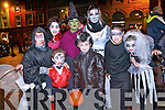 Modeling their Halloween costumes at the parade in Kenmare last Thursday. <br /> Front L-R Pierce, Senan and Vaughan O'Brien and Jasmine Durkin. <br /> Back L-R Sarah Durkin, Lisa O'Brien, Rebecca and Serena O'Sullivan.