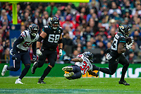 3rd November 2019; Wembley Stadium, London, England; National Football League, Houston Texans versus Jacksonville Jaguars; Defensive Back Cornell Armstrong of Houston Texans misses a tackled on Running Back Ryquell Armstead of Jacksonville Jaguars - Editorial Use