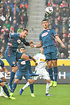 04.11.2018, Borussia Park , Moenchengladbach, GER, 1. FBL,  Borussia Moenchengladbach vs. Fortuna Duesseldorf,<br />  <br /> DFL regulations prohibit any use of photographs as image sequences and/or quasi-video<br /> <br /> im Bild / picture shows: <br /> Kopfball durch Alfredo Morales (Fortuna Duesseldorf #6),   <br /> <br /> Foto &copy; nordphoto / Meuter