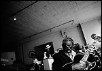 "May 4, 2005. New York, NY.. Musician James "" Blood"" Ulmer photographed in his loft in the Soho neighborhood of New York City."