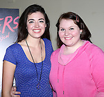 Barrett Wilbert Weed and Kate Ladner attend the Meet & Greet the stars and creative team of 'Heathers The Musical' on February 19, 2014 at The Snapple Theatre Center in New York City.