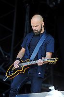 DERBYSHIRE, ENGLAND - AUGUST 12:  &Ouml;rjan &Ouml;rnkloo of 'Misery Loves Co' performing at Bloodstock Open Air Festival, Catton Park on August 12, 2016 in Derbyshire, England.<br /> CAP/MAR<br /> &copy;MAR/Capital Pictures /MediaPunch ***NORTH AND SOUTH AMERICAS ONLY***