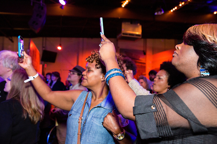 The audience enjoys the show at the Ponderosa Stomp in New Orleans on October 3, 2015.