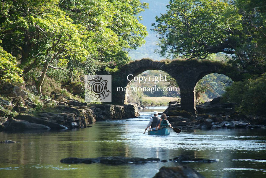 Canoeing at The Old Weir Bridge, Killarney..Picture by Don MacMonagle