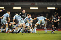 Millennium stadium, Ospreys v CardiffBlues RaboDirect PRO12 rugby Judgement Day, Saturday 30th March 2013. Lloyd Williams of the CardiffBlues gets the ball away from a ruck to feed his backs during the Ospreys v CardiffBlues match. Mandatory credit for pictures used to-Jeff Thomas Photography-www.jaypics.photoshelter.com-07837 386244