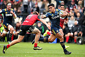 June 3rd 2017, AMI Stadium, Christchurch, New Zealand; Super Rugby; Crusaders versus Highlanders;  Malakai Fekitoa of the Highlandersi is tackled by George Bridge of the Crusaders. Super Rugby match