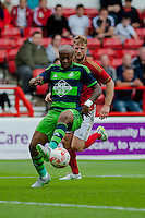 NOTTINGHAM, ENGLAND - JULY 25: Andre Ayew during the pre season friendly match between Nottingham Forest and Swansea City at The City Ground on July 25, 2015 in Nottingham, England.  (Photo by Aled Llywelyn / Athena Pictures )