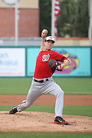 Taylor Jordan (38) of the Washington Nationals is the starting pitcher during a Grapefruit League Spring Training game at the Roger Dean Complex on March 24, 2014 in Jupiter, Florida. Washington defeated Miami 4-1. (Stacy Jo Grant/Four Seam Images)