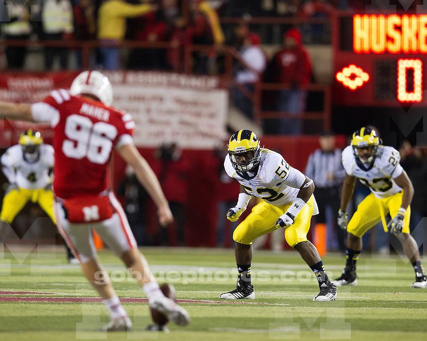 The University of Michigan Football team fell to the Nebraska Cornhuskers, 23-9, at Memorial Stadium in Lincoln, Neb., on October 27, 2012.