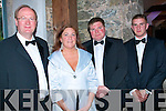 GRAND SLAM: Hoping for a grand evening at the Tralee Rugby Club Annual Dinner Dance in Ballyseedy Castle last Saturday night were l-r: Jim Finucane, Grace O'Donnell, Shane O'Sullivan and Kevin O'Shea.