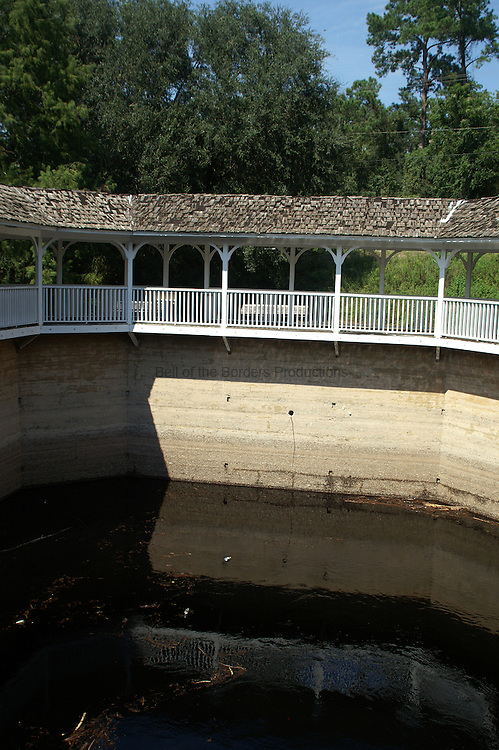 White Springs was renowned for the health benefits of its water.  This structure encloses the springs and originally had stairs so that people could walk down into the spring.