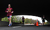 Marathoners run beneath the Sunrise Highway underpass on Wantagh Parkway during the Long Island Marathon on Sunday, May 6, 2018
