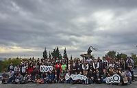 Querétaro, Qro. 4 de enero de 2016.- El rector de la UAQ, Gilberto Herrera, dió la bienvenida a los alumnos de nuevo ingreso en el inicio de las actividades administrativas de la universidad. Durante la bienvenida, que es un breve taller de inducción, al que también pueden asistir los padres de familia, se muestra la misión y visión de la universidad pública, el perfil de ingreso y egreso de los alumnos.<br /> <br /> <br /> Foto: Demian Chávez / Obture