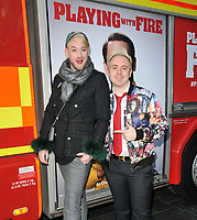 "LONDON, ENGLAND - DECEMBER 01: Lewis-Duncan Weedon and John Galea at the ""Playing With Fire"" celebrity screening, Cineworld Leicester Square, Leicester Square on Sunday 01 December 2019 in London, England, UK. <br /> CAP/CAN<br /> ©CAN/Capital Pictures"