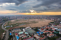 May 21, 2012 - Phnom Penh, Cambodia. A view on Boeung Kak, the lake was completely filled in to make way for a commercial and residential complex. © Nicolas Axelrod / Ruom