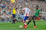 Atletico de Madrid´s Guilherme Siqueira and Athletic Club´s Inaki Williams during 2014-15 La Liga match between Atletico de Madrid and Athletic Club at Vicente Calderon stadium in Madrid, Spain. May 02, 2015. (ALTERPHOTOS/Luis Fernandez)