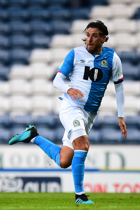 Blackburn Rovers' Danny Graham in action<br /> <br /> Photographer Richard Martin-Roberts/CameraSport<br /> <br /> The Carabao Cup First Round - Tuesday 13th August 2019 - Blackburn Rovers v Oldham Athletic - Ewood Park - Blackburn<br />  <br /> World Copyright © 2019 CameraSport. All rights reserved. 43 Linden Ave. Countesthorpe. Leicester. England. LE8 5PG - Tel: +44 (0) 116 277 4147 - admin@camerasport.com - www.camerasport.com