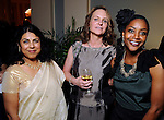 From left: Chitra Divakaruni, Antoyna Nelson and ZZ Packer at the Imprint Poets & Writers Ball at the Houston Country Club  Feb 18,2012. (Dave Rossman/For the Chronicle)