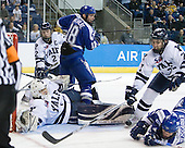 Ryan Rondeau (Yale - 1), Jimmy Martin (Yale - 2), George Michalke, III (Air Force - 18), Mike Matczak (Yale - 7), Paul Weisgarber (Air Force - 10) - The Yale University Bulldogs defeated the Air Force Academy Falcons 2-1 (OT) in their East Regional Semi-Final matchup on Friday, March 25, 2011, at Webster Bank Arena at Harbor Yard in Bridgeport, Connecticut.