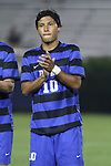 30 August 2013: Duke's Luis Rendon. The Duke University Blue Devils hosted the Rutgers University Scarlet Knights at Koskinen Stadium in Durham, NC in a 2013 NCAA Division I Men's Soccer match. The game ended in a 1-1 tie after two overtimes.
