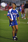 Tiffany Roberts at SAS Stadium in Cary, North Carolina on 6/18/03 during the 2003 WUSA All Star Skills Competition.