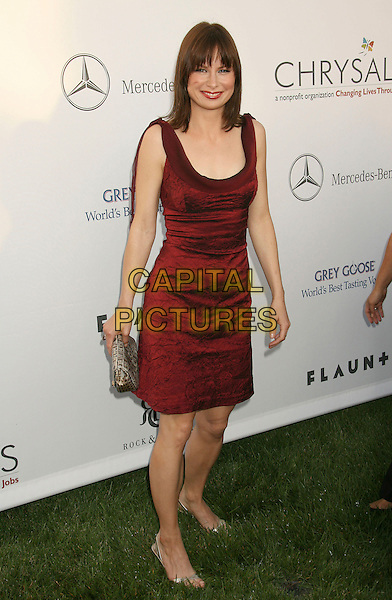 MARY LYNN RAJSKUB.Sixth Annual Chrysalis Butterfly Ball held at the Home of Susan Harris and Hayward Kaiser, Mandeville Canyon, California, USA, 02 June 2007..full length red dress.CAP/ADM/RE.©Russ Elliot/AdMedia/Capital Pictures. *** Local Caption *** ..