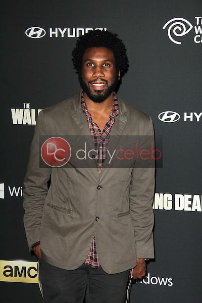 "Nyambi Nyambi<br /> at ""The Walking Dead"" Season Four Premiere, AMC Universal Citywalk Stadium 19,  Universal City, CA 10-03-13<br /> Dave Edwards/DailyCeleb.com 818-249-4998"