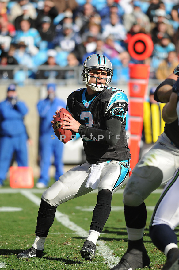 MATT MOORE, of the Carolina Panthers  in action during the Panthers game against the Seattle Seahawks on December 16, 2007 in Charlotte, North Carolina...PANTHERS win 13-10..SPORTPICS
