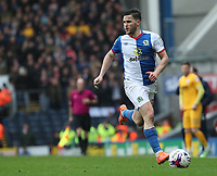 Blackburn Rovers' Craig Conway celebrates scoring his sides second goal <br /> <br /> Photographer Rachel Holborn/CameraSport<br /> <br /> The EFL Sky Bet Championship - Blackburn Rovers v Preston North End - Saturday 18th March 2017 - Ewood Park - Blackburn<br /> <br /> World Copyright &copy; 2017 CameraSport. All rights reserved. 43 Linden Ave. Countesthorpe. Leicester. England. LE8 5PG - Tel: +44 (0) 116 277 4147 - admin@camerasport.com - www.camerasport.com